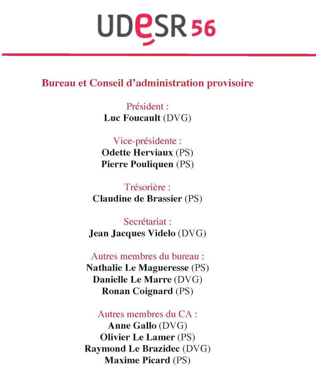 L association morbihannaise des lus de gauche ps 56 - Difference entre conseil d administration et bureau ...