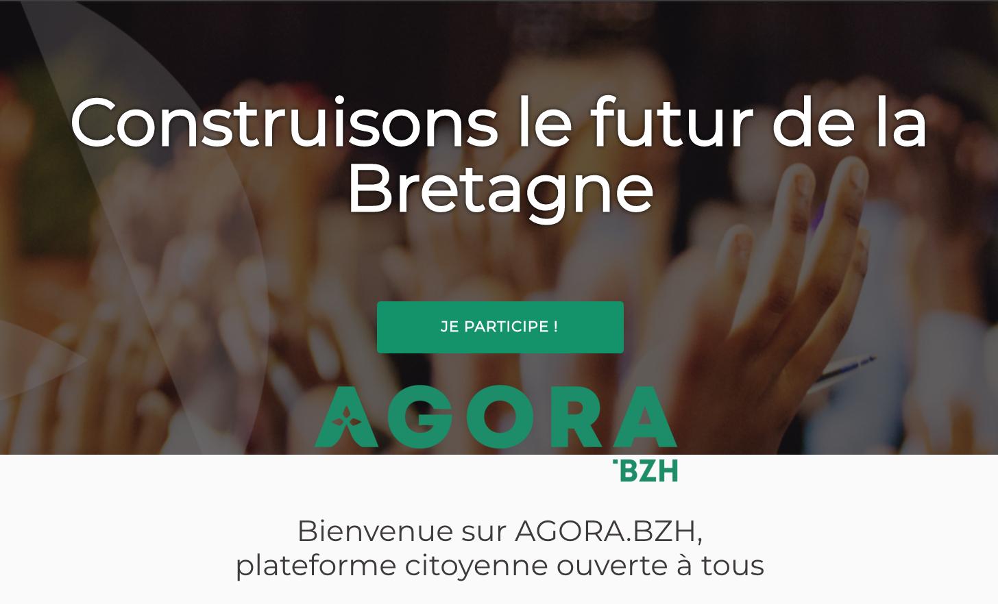 Construisons le futur de la Bretagne - AGORA.BZH, plateforme citoyenne ouverte à tous